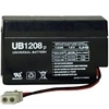 Rechargeable, Sealed, Lead Acid, VRLA AGM, Maintenance Free, Battery, with Wire Leads, UB1208,
