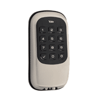 Yale YRD110-ZW-619 Key Free Push Button Deadbolt - Z-Wave - Satin Nickel