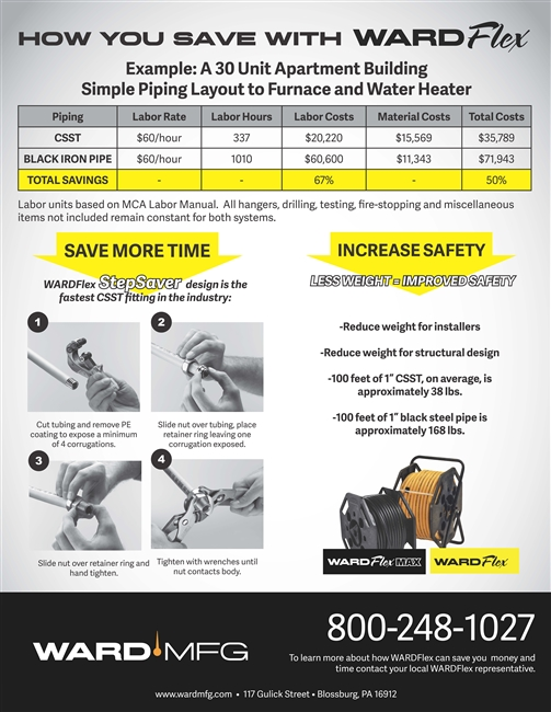 Labor Savings-Black Iron Pipe Sell Sheet