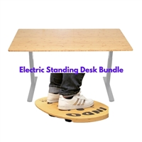 Electric Standing Desk WFH Bundle w/OriginalFLO Balance Board