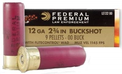 12 gauge Federal 00 Buckshot (9 pellet) 100 rounds