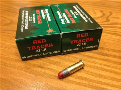 22 LR Tracer Piney Mountain Red Green - 50 rounds