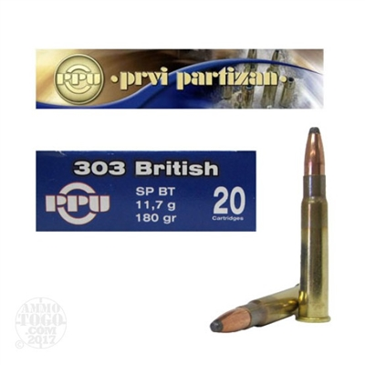 303 British 180gr SP Ammunition - 20 Rounds