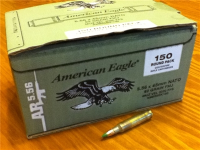 5.56 NATO 62gr M855 Green Tip - 150 rounds