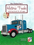 Historic Trucks Coloring Book for All Ages