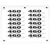 VOLTAGE DECAL 460V