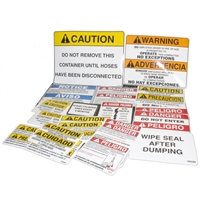 SELF-CONTAINED COMPACTOR SAFETY DECAL KIT