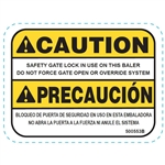 GATE LOCK DECAL