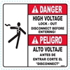 HIGH VOLTAGE SAFETY DECAL