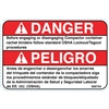 DECAL DANGER TAG OUT BEFORE DISENGAGING BINDERS