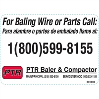 DECAL FOR BALING WIRE