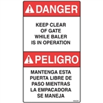DANGER GATE DECAL