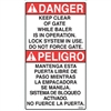 DECAL DANGER KEEP CLEAR OF GATE WHILE BALER IS IN OPERATION
