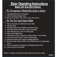 DECAL BALER OPERATING INSTRUCTIONS FOR DUAL EJECT