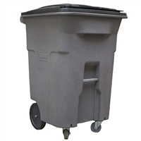 96 Galllons Grey Wheeled Trash Can with Casters ACC96-01GST