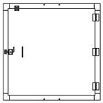 "Security Door - Single Door - 45""x45"" - Custom Special Order"