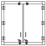 "Security Door - Double Door - 48""x48"""
