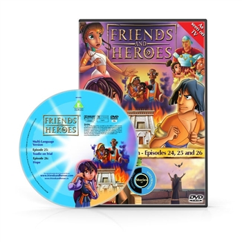 Friends and Heroes Episodes 24-26 DVD 10 languages