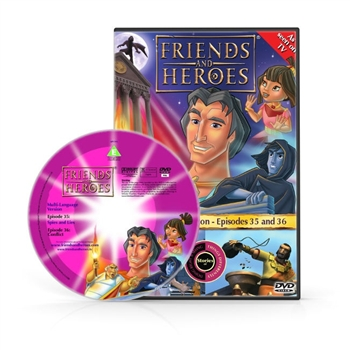 Friends and Heroes Episodes 35-36 DVD 10 languages