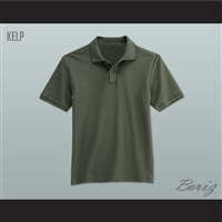 Men's Solid Color Kelp Polo Shirt