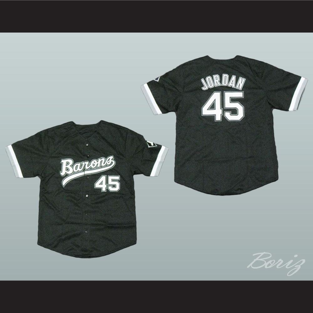 meet c4b4a a0ab8 Michael Jordan Rookie 45 Barons Baseball Jersey