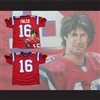 Keanu Reeves Shane Falco 16 Sentinels Airbrush Portrait Football Jersey The Replacements