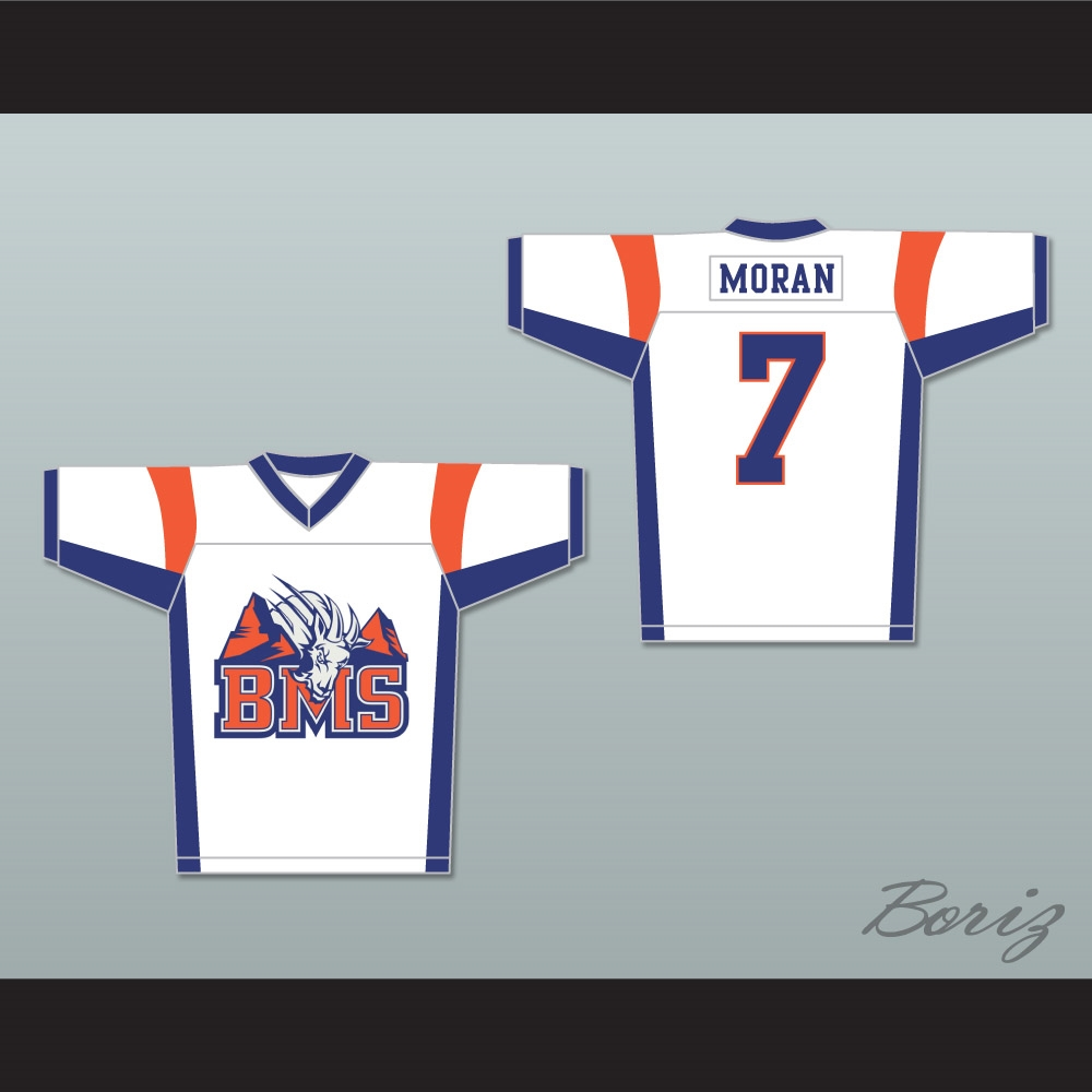 Alex Moran 7 Blue Mountain State Goats Football Jersey 4a224025cc79