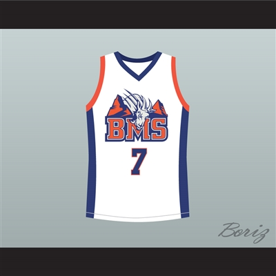 Alex Moran 7 Blue Mountain State Goats Basketball Jersey