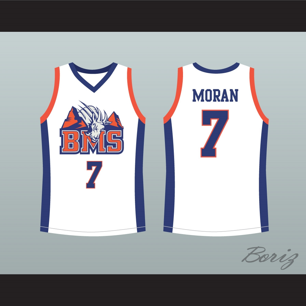 Alex Moran 7 Blue Mountain State Goats Basketball Jersey 1afe7ca1b390
