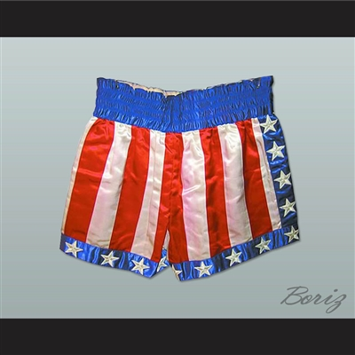 Apollo Creed USA Boxing Shorts All Sizes