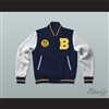 Bel-Air Academy Airedales Blue Varsity Letterman Jacket-Style Sweatshirt with Patch
