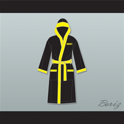 Rocky Balboa Italian Stallion Satin Full Boxing Robe with Hood