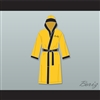 Rocky Balboa Italian Stallion Yellow Satin Full Boxing Robe with Hood