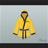 Rocky Italian Stallion Yellow Satin Half Boxing Robe with Hood