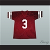 Saved By The Bell AC Slater 3 Bayside Tigers Football Jersey