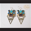 P Middleton Bear Earrings Sterling Silver .925 with Micro Inlay Stones