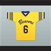 Danny Mahealani 6 Beacon Hills Beavers Lacrosse Jersey Throwback Teen Wolf