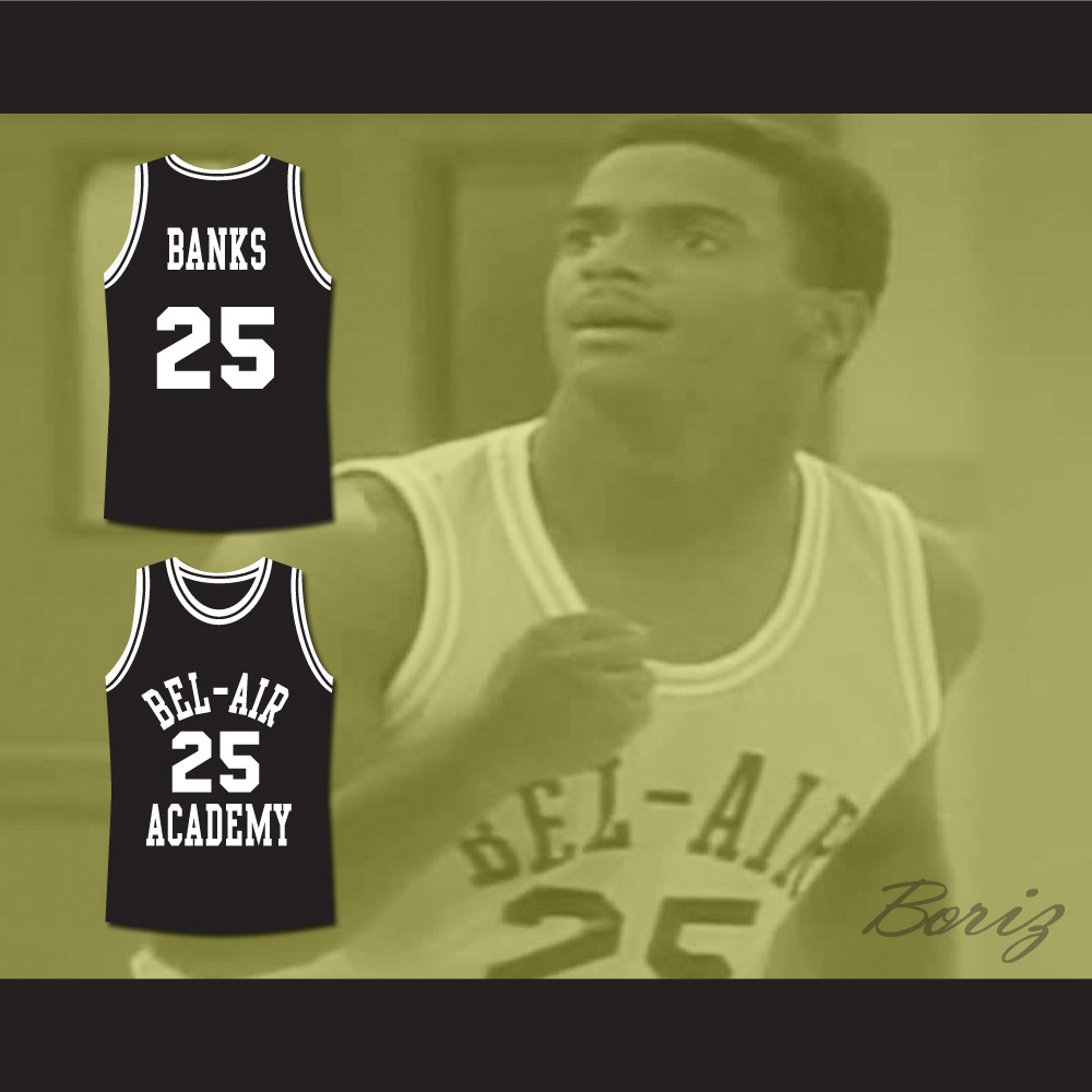 7191d2b94bee The Fresh Prince of Bel-Air Alfonso Ribeiro Carlton Banks Bel-Air Academy  Basketball Jersey