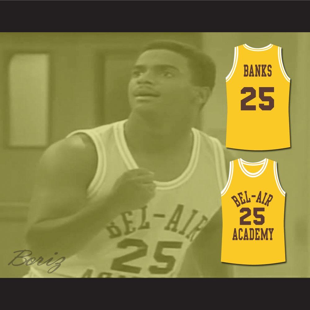 739681281db7 The Fresh Prince of Bel-Air Alfonso Ribeiro Carlton Banks Bel-Air Academy  Basketball Jersey