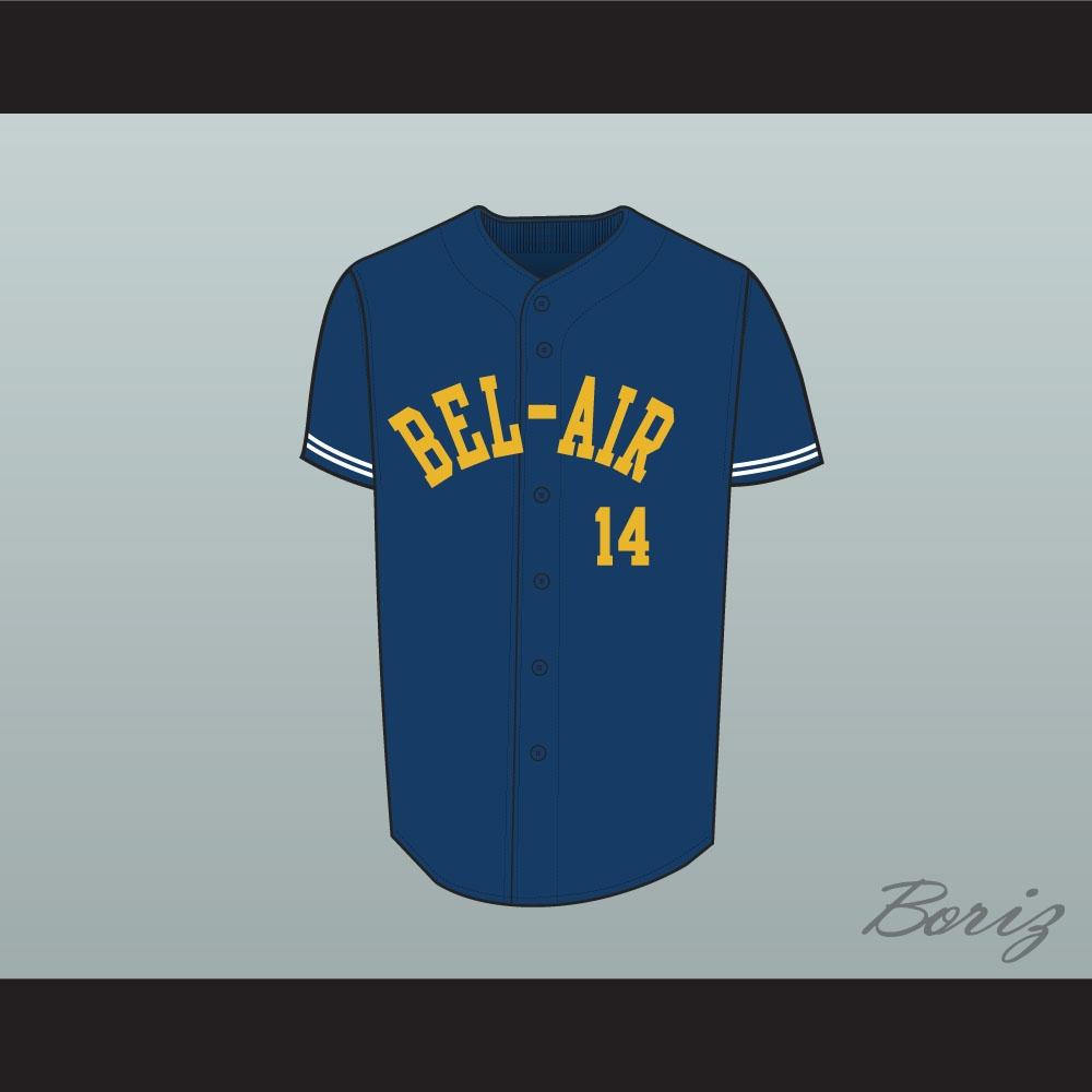 c03de0ff8f9e Fresh Prince Will Smith Bel-Air Academy Baseball Jersey