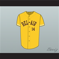 Fresh Prince Will Smith Bel-Air Academy Baseball Jersey Stitch Sewn