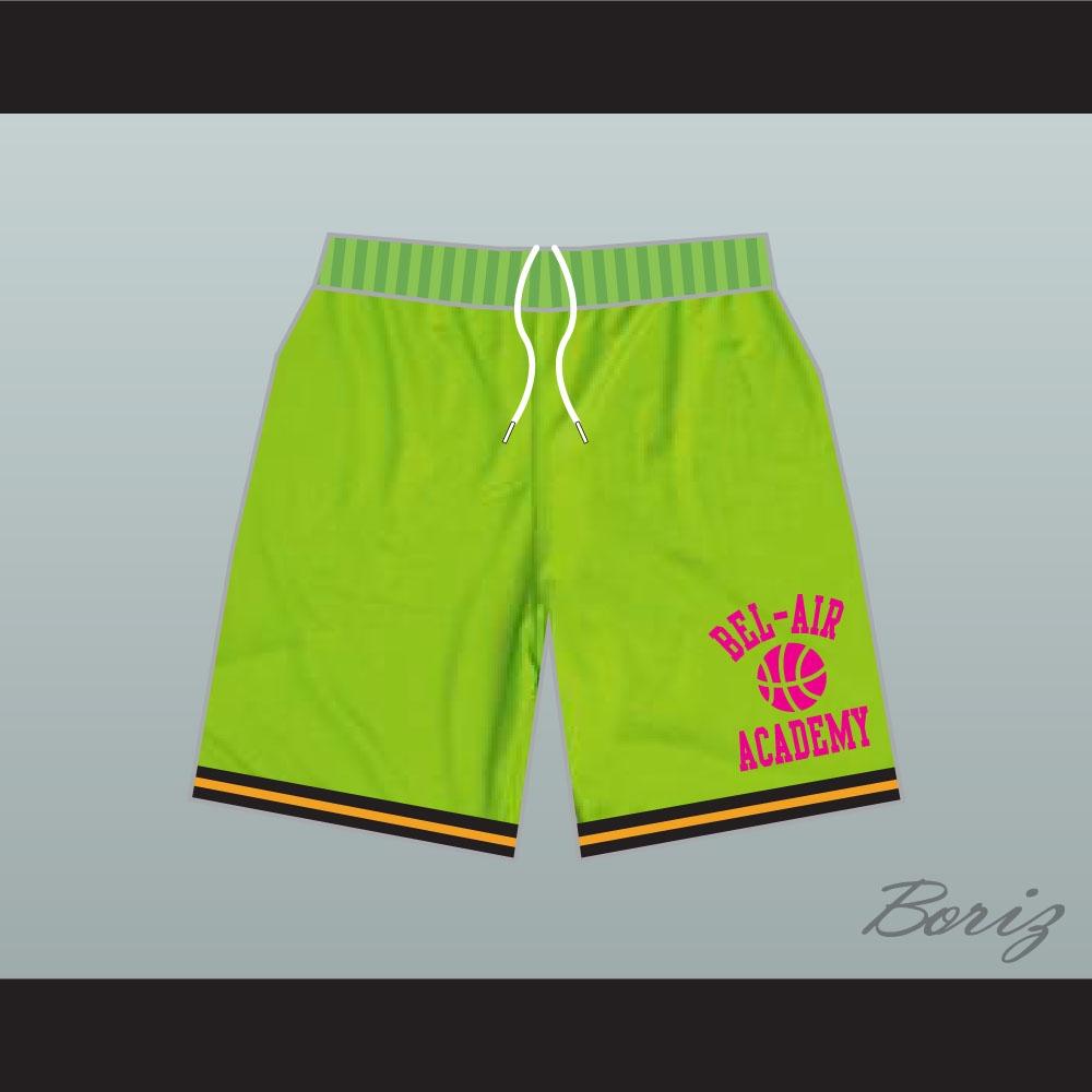 64f49fc0cfa9 Fresh Prince Bel-Air Academy Basketball Shorts Neon Green