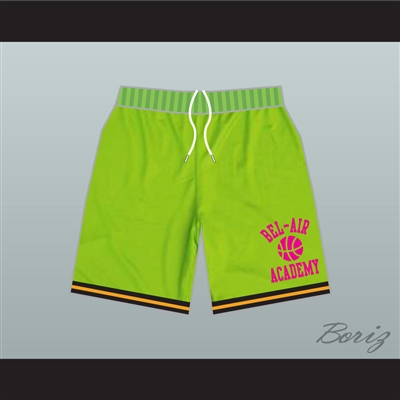 Fresh Prince Bel-Air Academy Basketball Shorts Neon Green