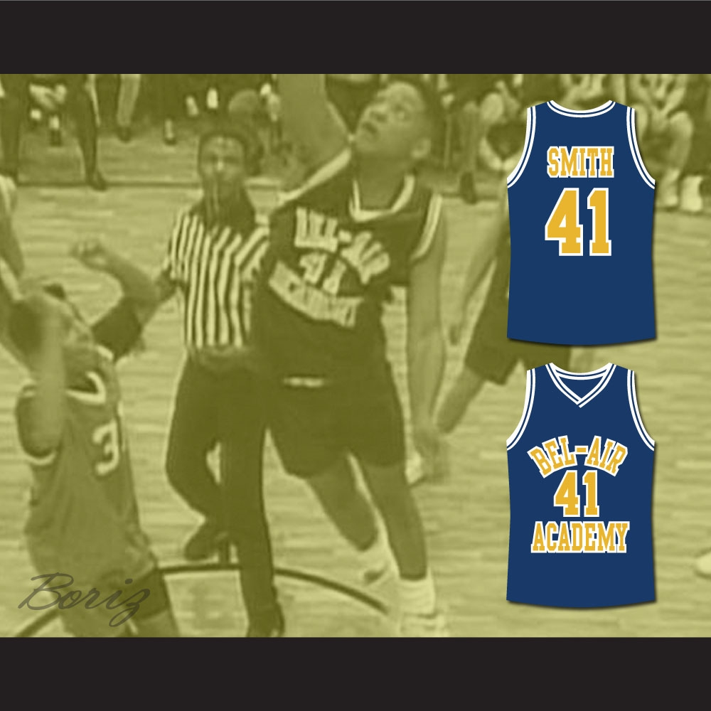 The Fresh Prince of Bel-Air Will Smith Bel-Air Academy Basketball Jersey 3a8676751d21