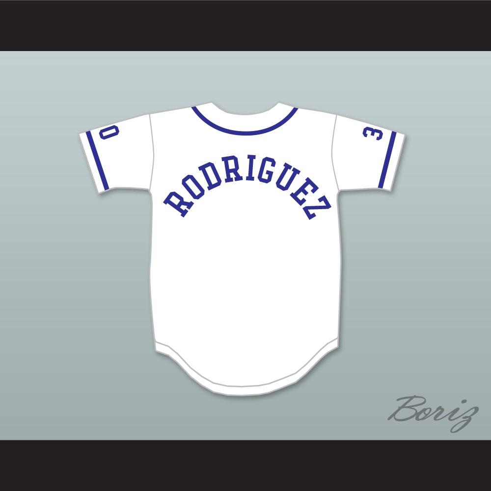 Mike Vitar Benny  The Jet  Rodriguez 30 White Baseball Jersey The Sandlot c14a8349a