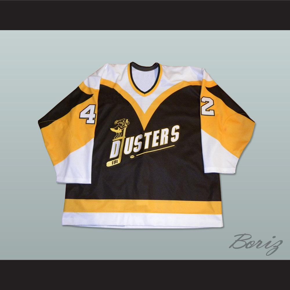 Binghamton Broome Dusters Jim O Brien 42 Hockey Jersey fbc56bdb365