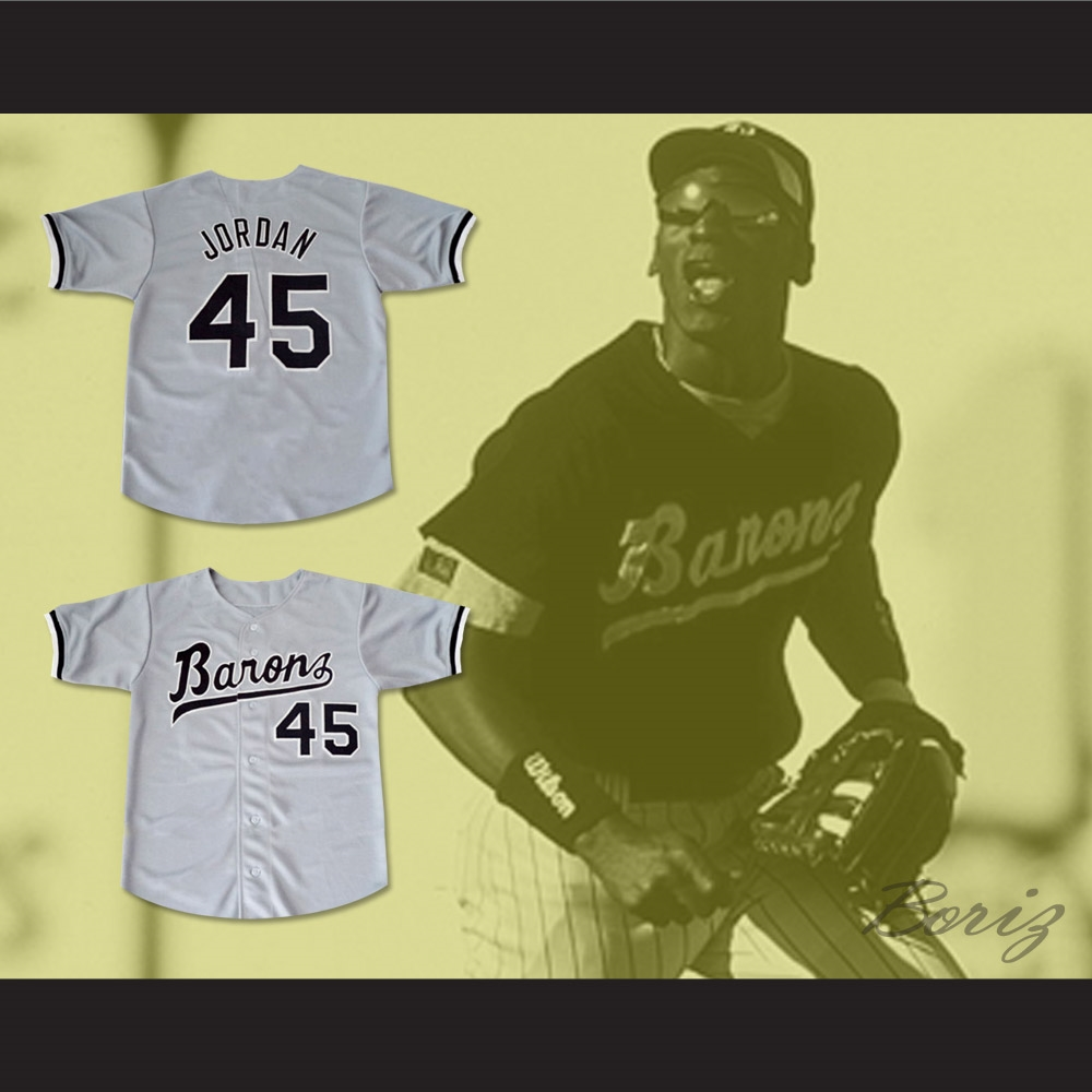 6359209bd Michael Jordan 45 Birmingham Barons Baseball Jersey