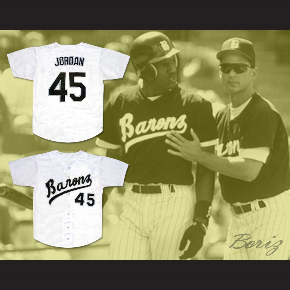 best website 783d9 0aac5 Michael Jordan 45 Birmingham Barons Baseball Jersey Stitch Sewn New