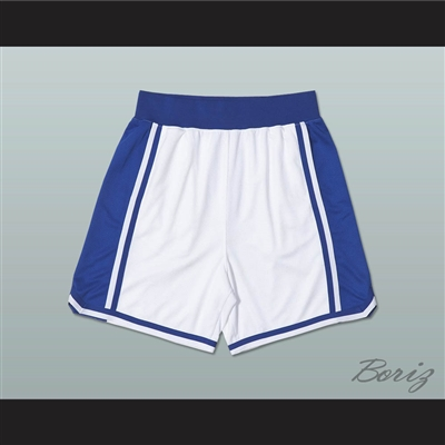 Blue and White Basketball Shorts
