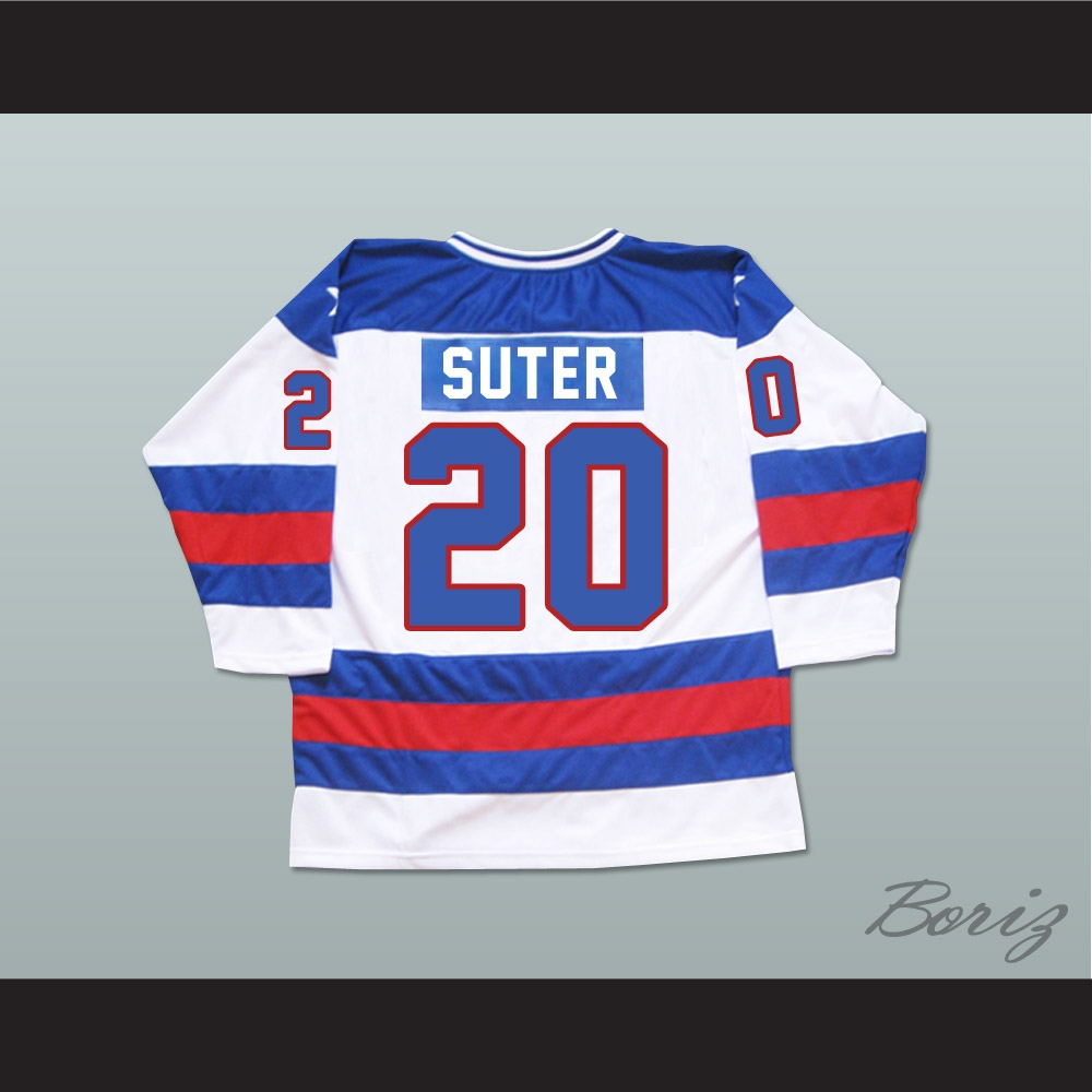 brand new 1781b d09d6 1980 Miracle On Ice Team USA Bob Suter 20 Hockey Jersey
